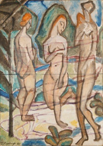 Three Nudes by Thomas Furlong