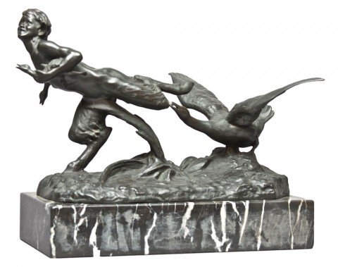 Goose Chasing a Satyr