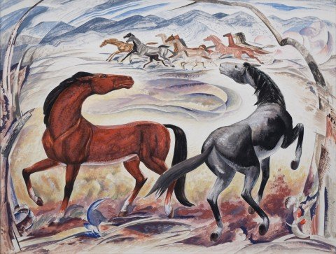Wild Horses by William C. Grauer