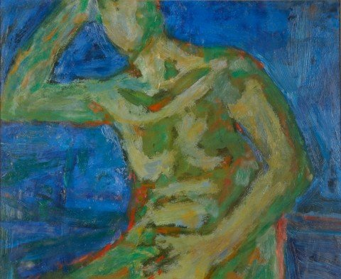 Seated Green Nude