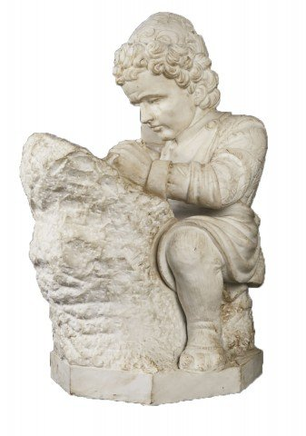 Young Michelangelo Sculpting, after Emilio Zocchi