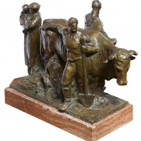 Giovanni Nicolini - Bronze Group Celebrating the Noble Yeomanry