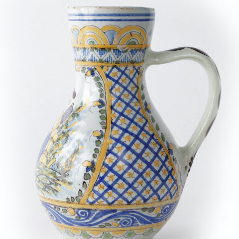 A Continental Faience Jug by Continental Faience