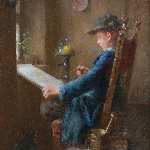 34 Anton Laupheimer - Young Artist at Work