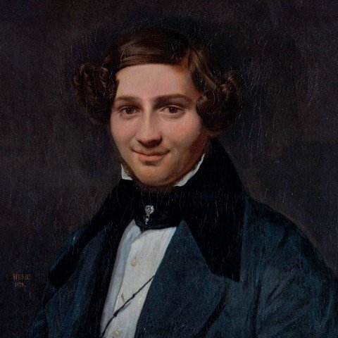 30 Alexandre Hesse - Portrait of a Handsome Young Gentleman