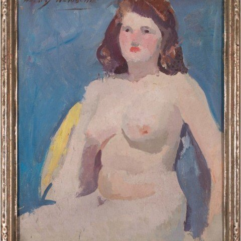 19 Henry Hensche - Seated Nude