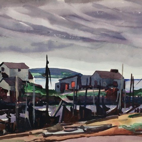 Boats and Houses, Barachois, Nova Scotia, Canada