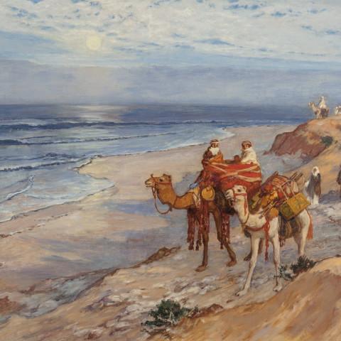 Sur la côte de Tanger l'Atlantique by Frederick Arthur Bridgman