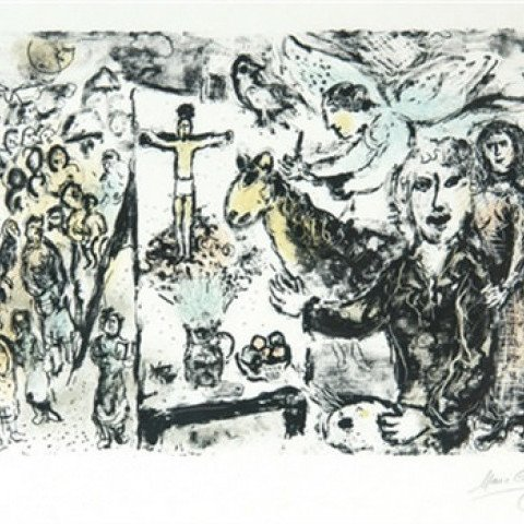 The Artist and Biblical Themes by Marc Chagall