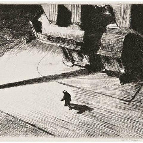 Edward Hopper - Night Shadows, 1921