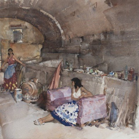 Sir William Russell Flint - A Provençal Vault