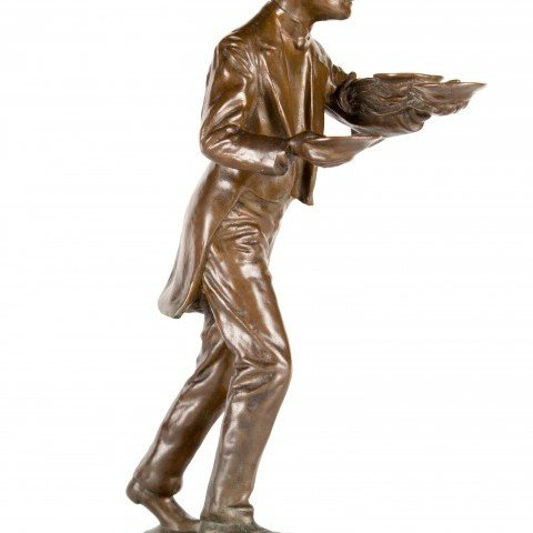 Josef E. Engelhart - Bronze Figure of a Waiter