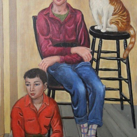 Dorothy Eaton - Two Boys and A Cat