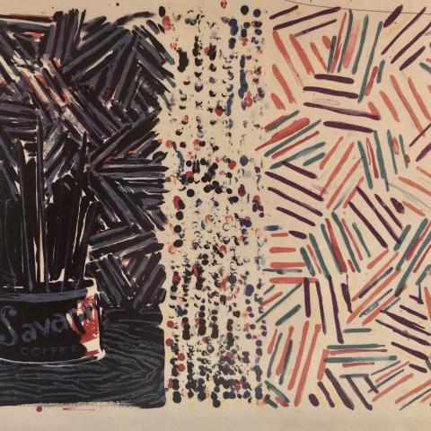 Jasper Johns - Untitled (Fields 258), 1977