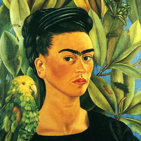 Frida Kahlo - Self-Portrait with Bonito, 1941