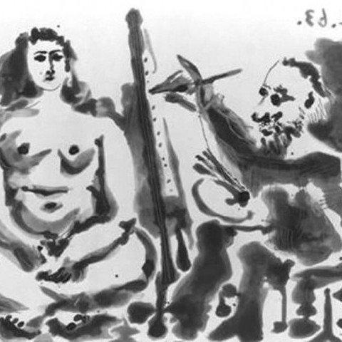 Le peintre et son modèle by Pablo Picasso