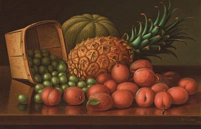 Levi Wells Prentice - Still Life - Pineapples and Apricots, 1899