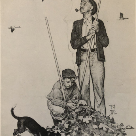 Fall by Norman Rockwell