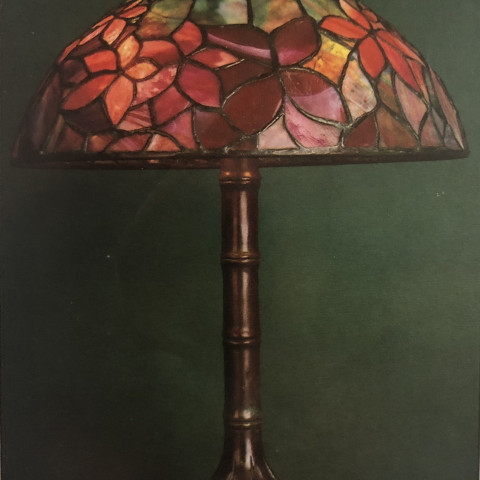 Tiffany Woodbine  with Bamboo Base Lamp by Tiffany Studios