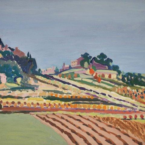Hillside, Provence by Algesa O'Sickey