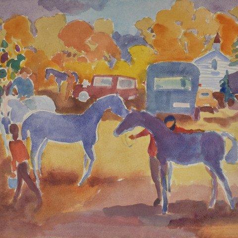 Horse Show Preparations  by Algesa O'Sickey