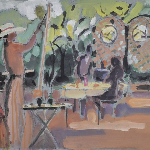 Woman Painting by Algesa O'Sickey