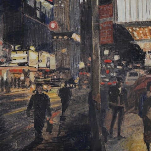 42nd Street at Night by Andrew Lenaghan