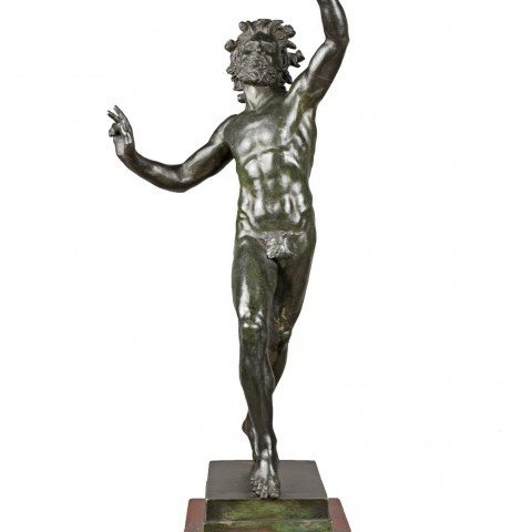 Grand Tour Bronze of The Dancing Faun by 19th Century Italian School