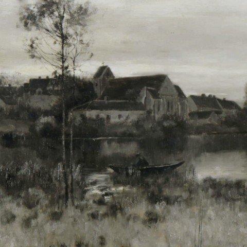 Bruce Crane—Landscape, Crepuscule