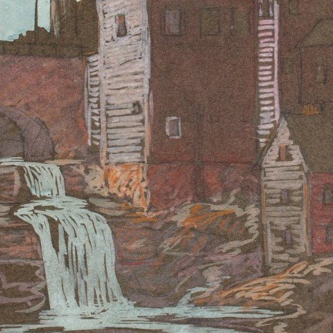 Mill with Waterfall, Chagrin Falls