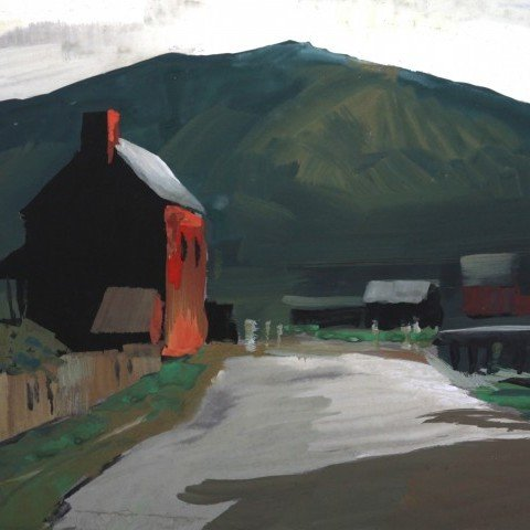 Red Barn on a Country Road