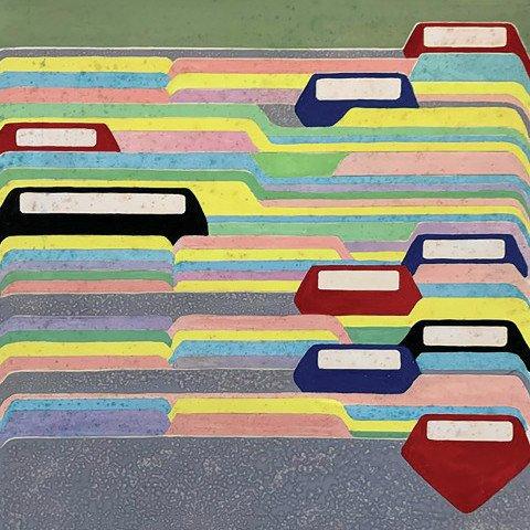Acrylic on Paper Artwork: