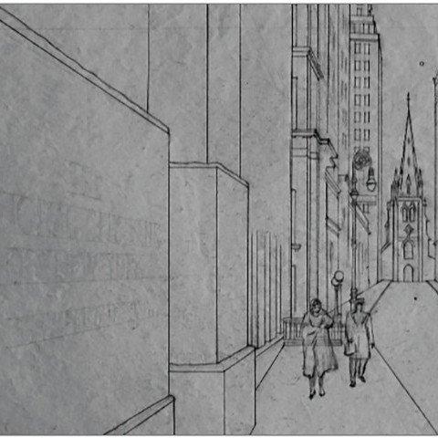 Graphite on Paper Sketch:
