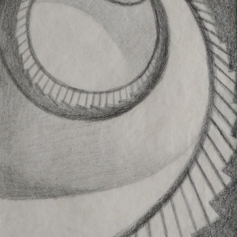 Graphite on Paper Drawing Sketch: