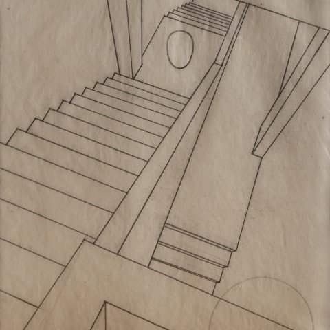 Abstract Graphite on Paper Sketch: