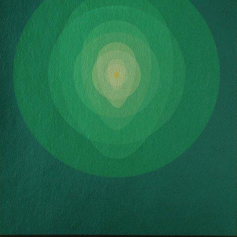 Abstract Silkscreen on Scintilla painting: