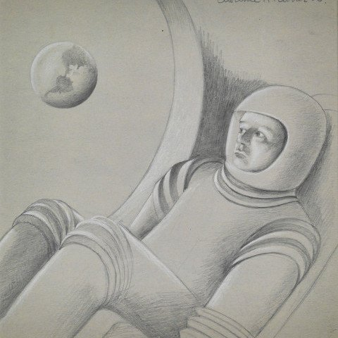 The Astronaut by Clarence Holbrook Carter