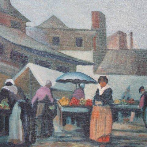 Market Scene, Italy