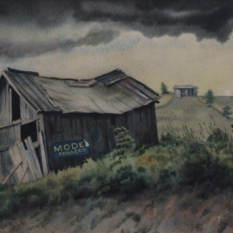 Model Tobacco (Landscape with Rundown Barn)
