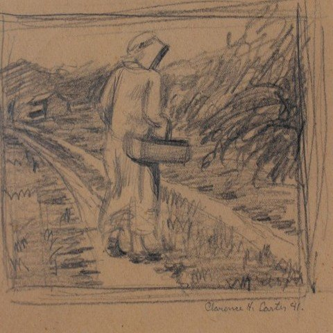 Woman Gathering Coal, study for Jane Read and Dora Hunt