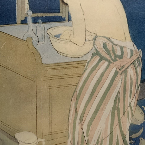 Mary Stevenson Cassatt - Woman Bathing (La Toilette), ca. 1890-91