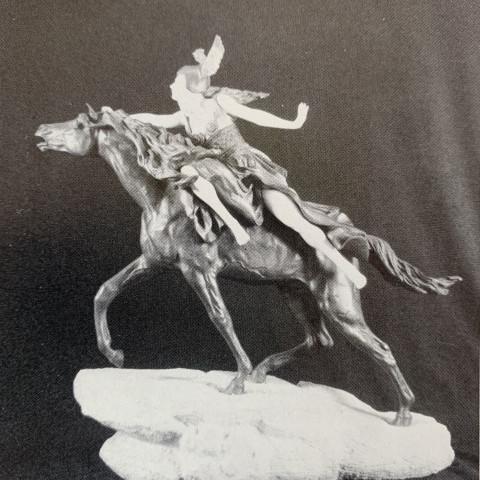 Brunhilda on Horseback by Claire Jeanne Roberte Colinet