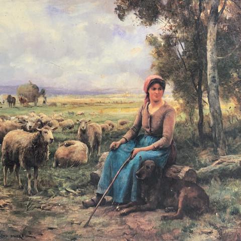Julien Dupré - A Shepherdess and Her Flock