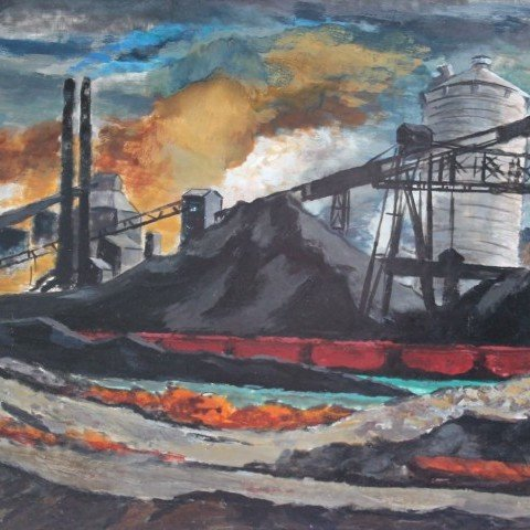 Edmund Brucker - Cleveland Flats - 1930