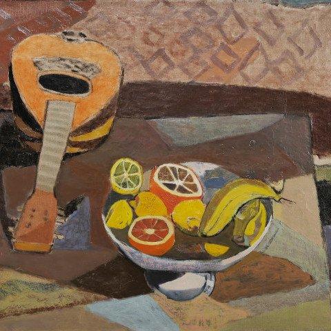 Fruit and Mandolin by Eric Isenburger