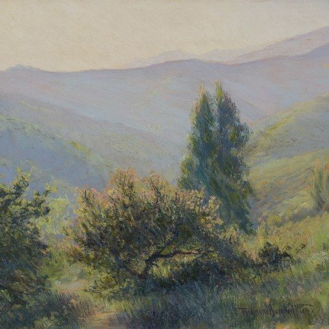 Ferdinand Burgdorff - California Hillside at Dusk