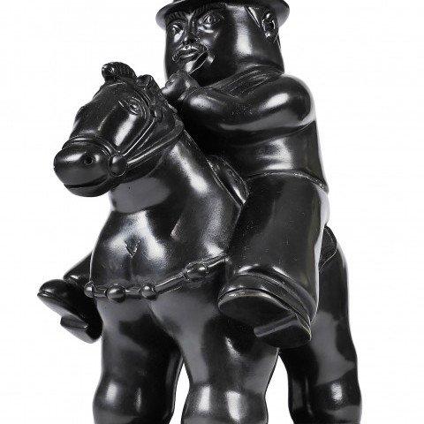 Man on Horse after Fernando Botero by Fernando Botero