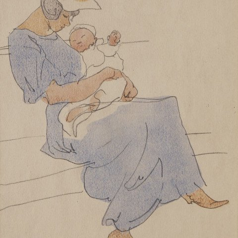 Mother and Child by Frank Nelson Wilcox