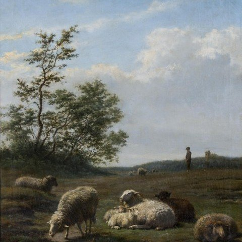 Frans Lebret - Sheep in Landscape