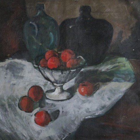 Still Life with Oranges in a Bowl and Two Jugs